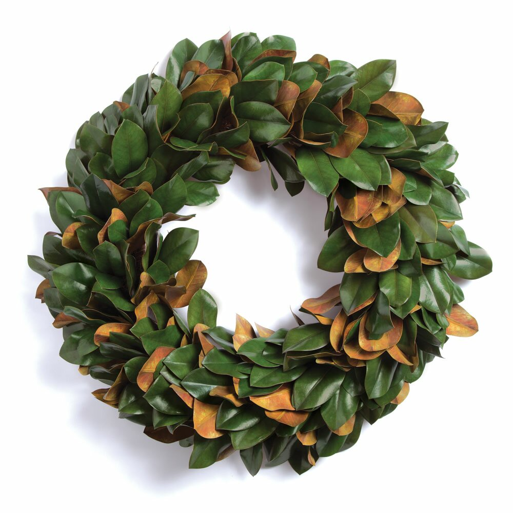 Laurel Foundry Modern Farmhouse Gilt Magnolia Leaf Wreath