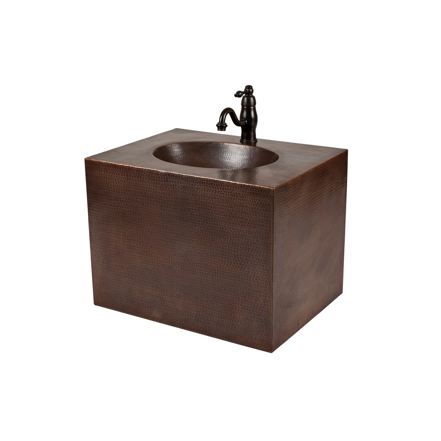 Premier Copper Products 24 Single Hand Hammered Copper Wall Mount Bathroom Vanity Set Reviews