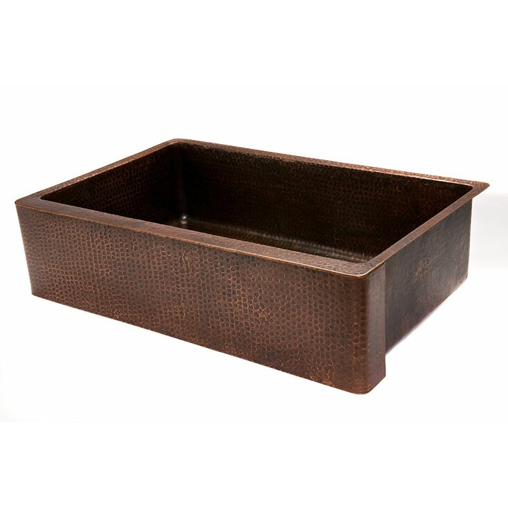 Copper Farmhouse Sink Clearance : ... Hammered Single Bowl Farmhouse Kitchen Sink by Premier Copper Products