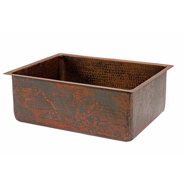 Premier Copper Products 25 Quot X 19 Quot Hammered Single Bowl