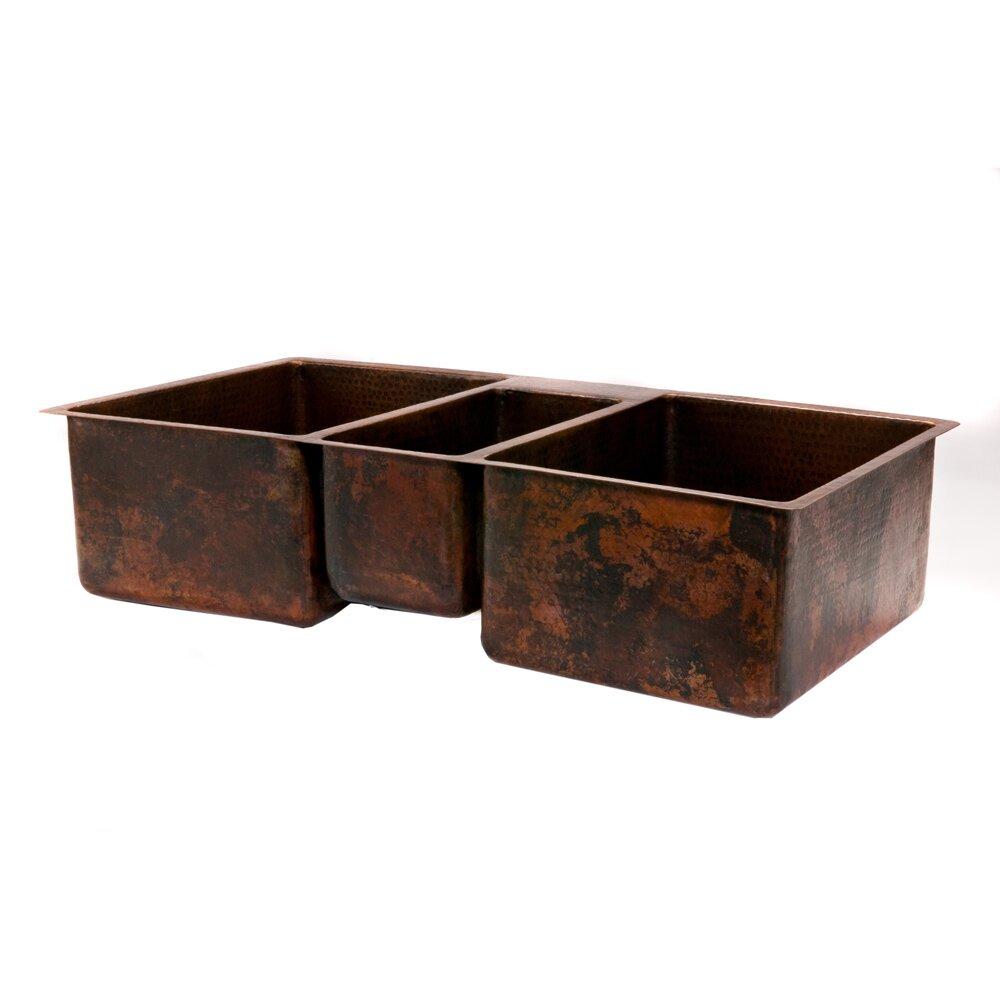 premier copper products 42 quot x 22 quot hammered bowl