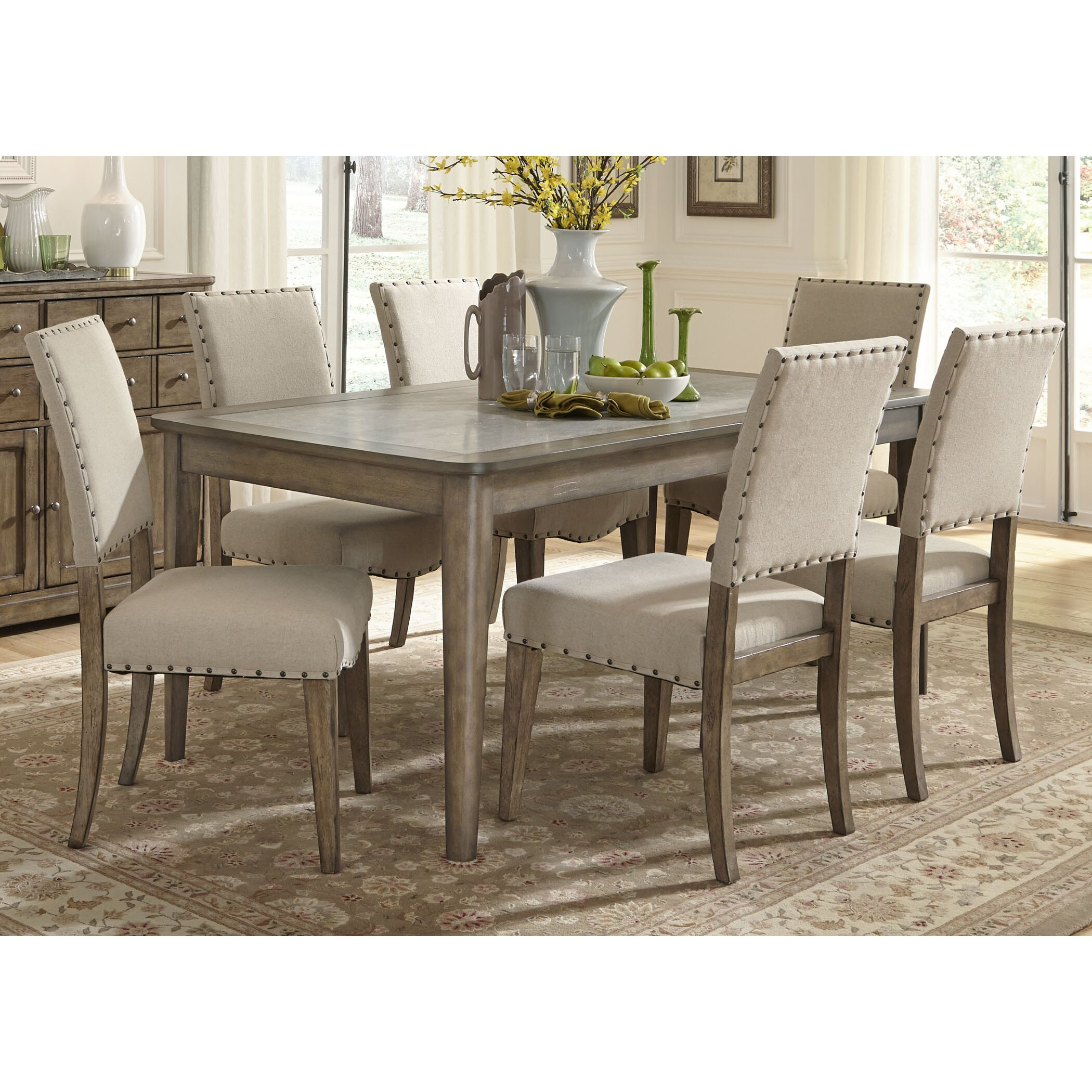 liberty furniture 7 piece dining set reviews wayfair