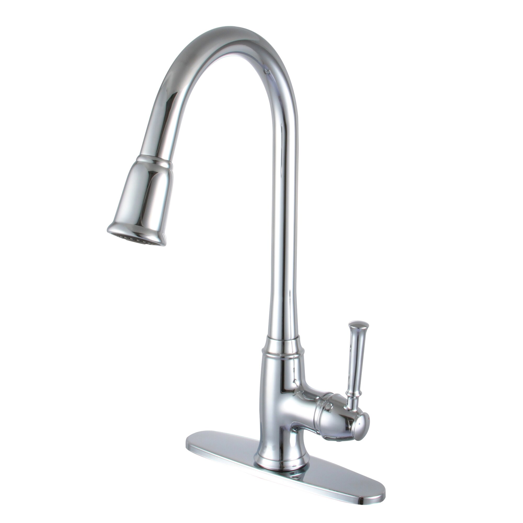 yosemite home decor single handle deck kitchen faucet reviews wayfair. Black Bedroom Furniture Sets. Home Design Ideas