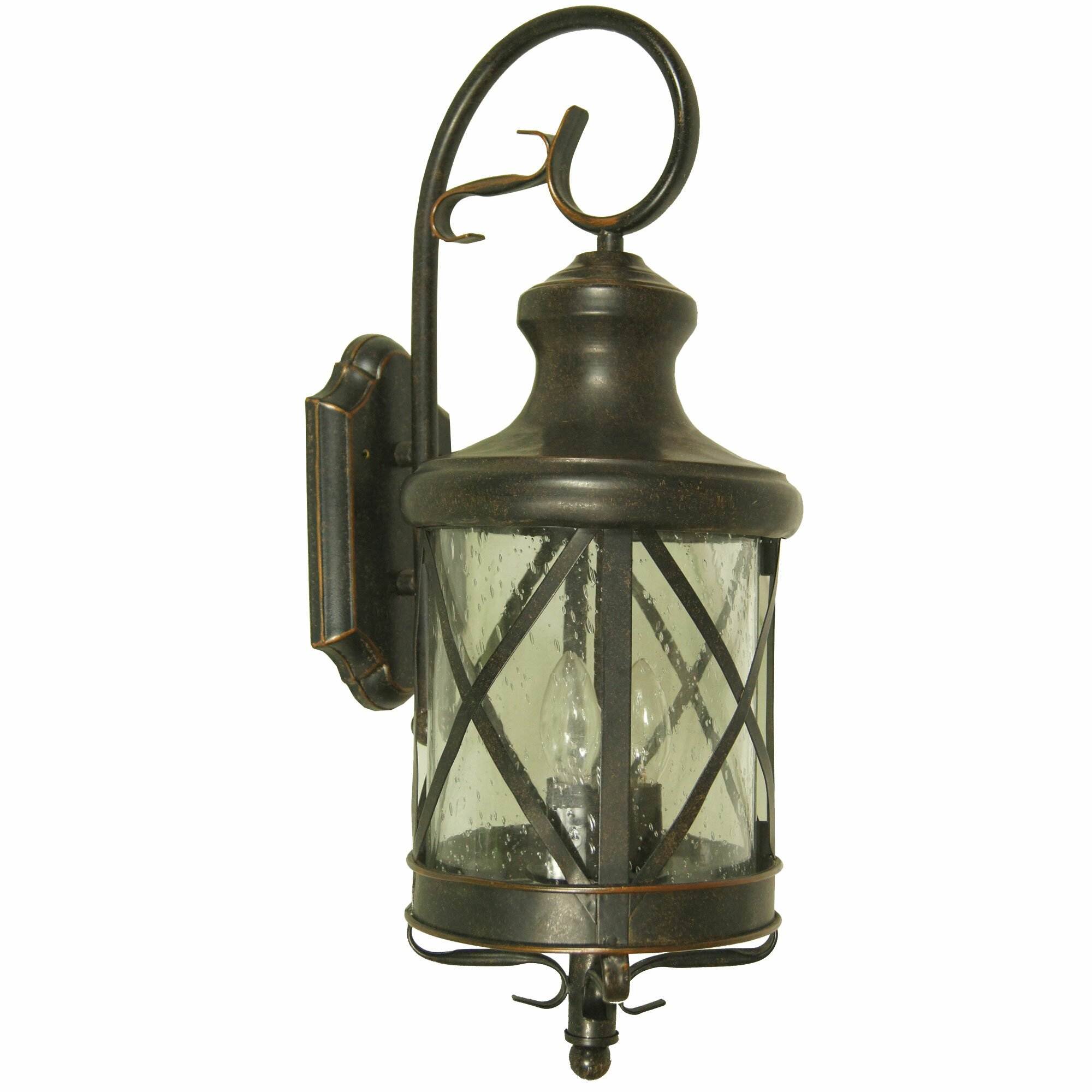 Outdoor Wall Light Decor : Yosemite Home Decor Lorenza 2 Light Outdoor Wall Lantern & Reviews Wayfair