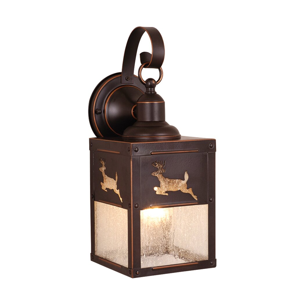 Wayfair Outdoor Wall Lights : Vaxcel Yellowstone 1 Light Outdoor Wall Lantern & Reviews Wayfair