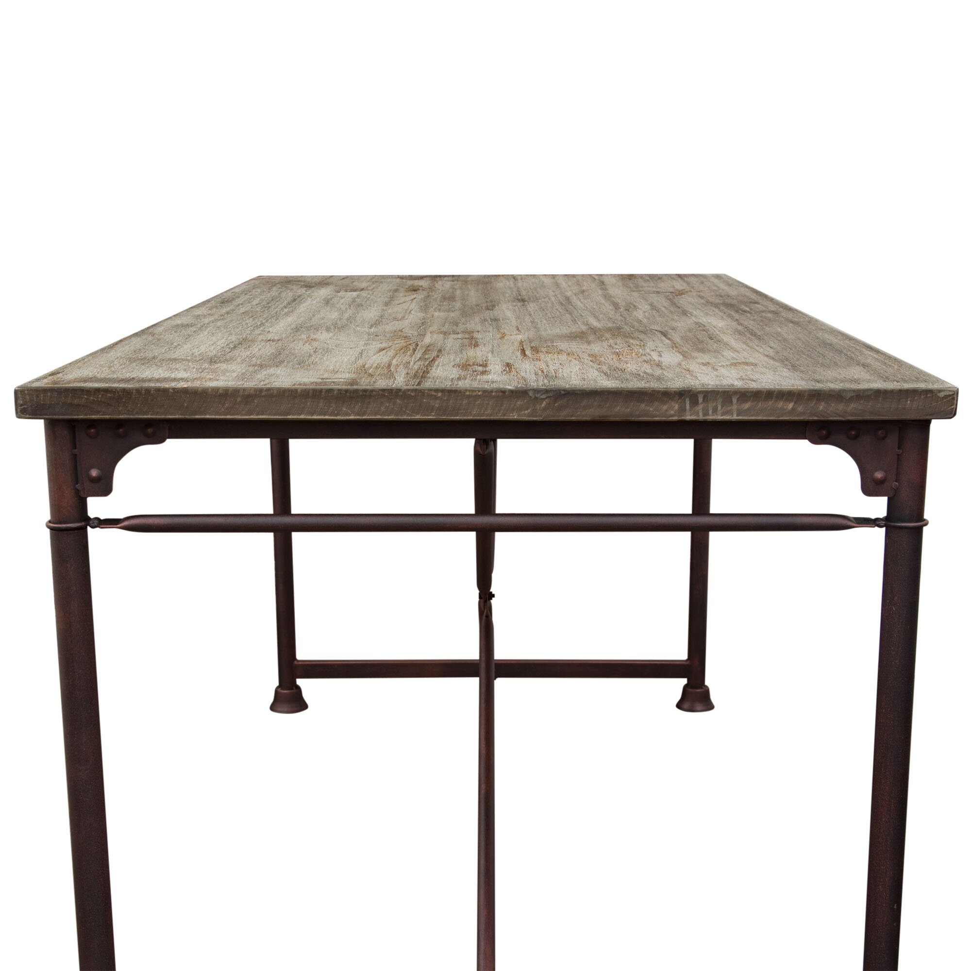 Diamond Sofa Dixon Dining Table amp Reviews Wayfair : Dixon Vintage Rectangular Dining Table with Weathered Grey Top and Rust Black Hand Painted Distressed Base by Diamond Sofa DIXONDTBL from www.wayfair.com size 2000 x 2000 jpeg 244kB