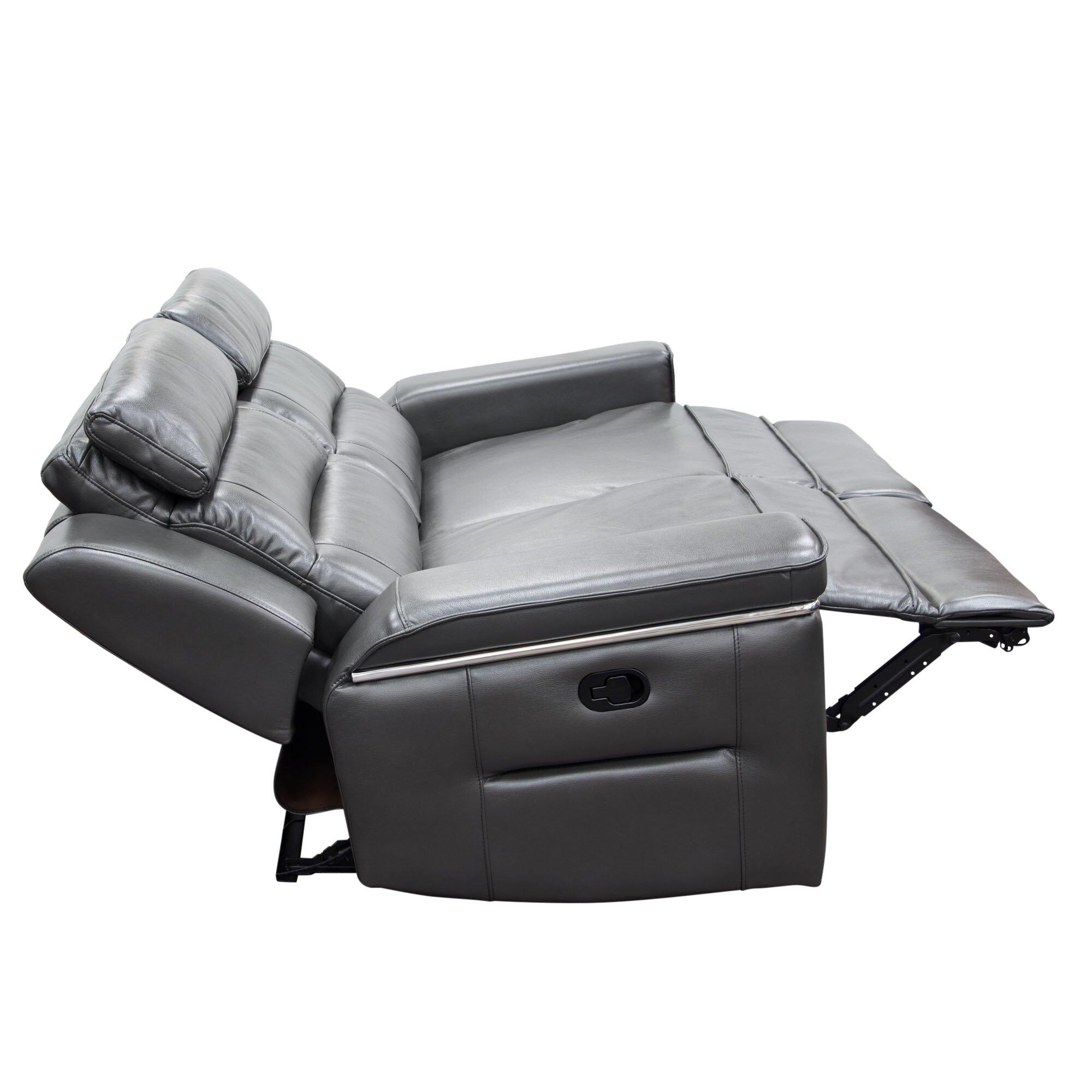 Diamond Sofa Duncan Leather Dual Reclining Sofa Wayfair