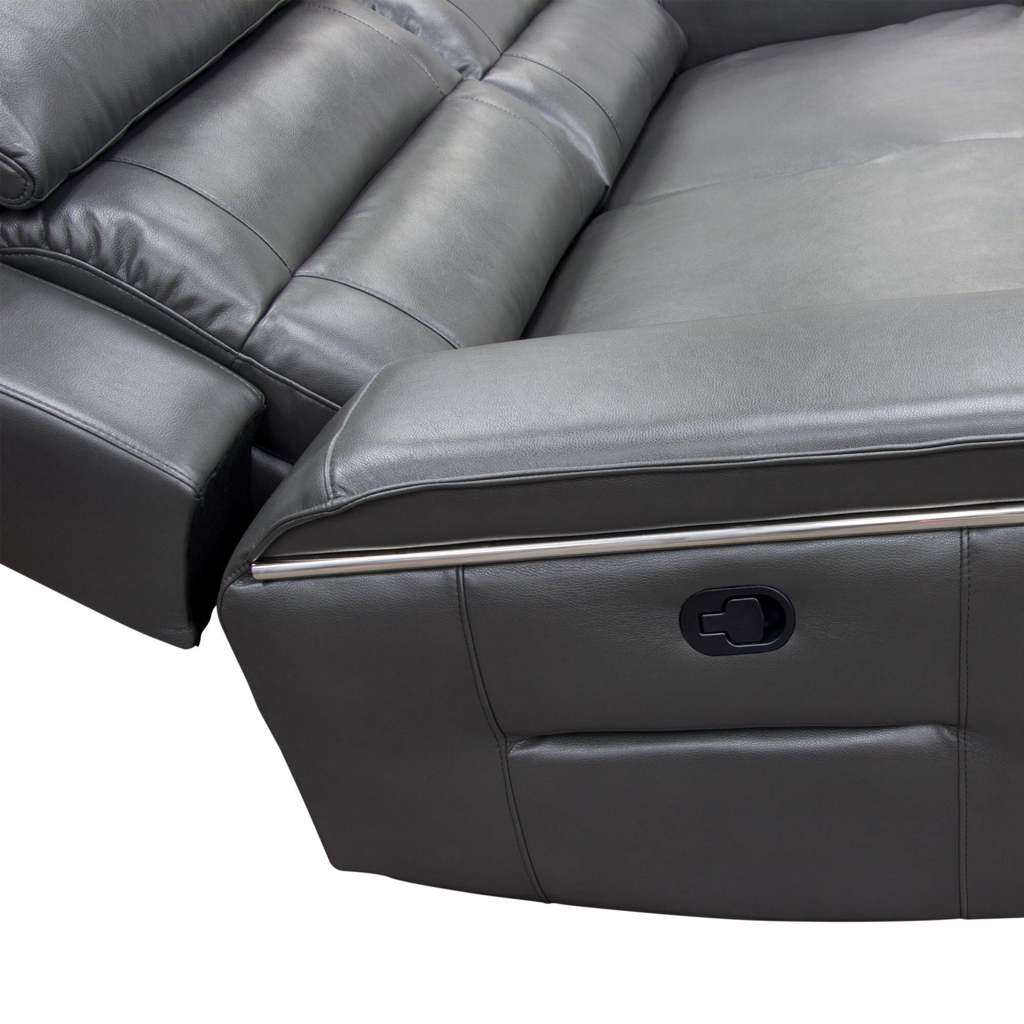 Diamond Sofa Duncan Leather Dual Reclining Sofa Reviews Wayfair