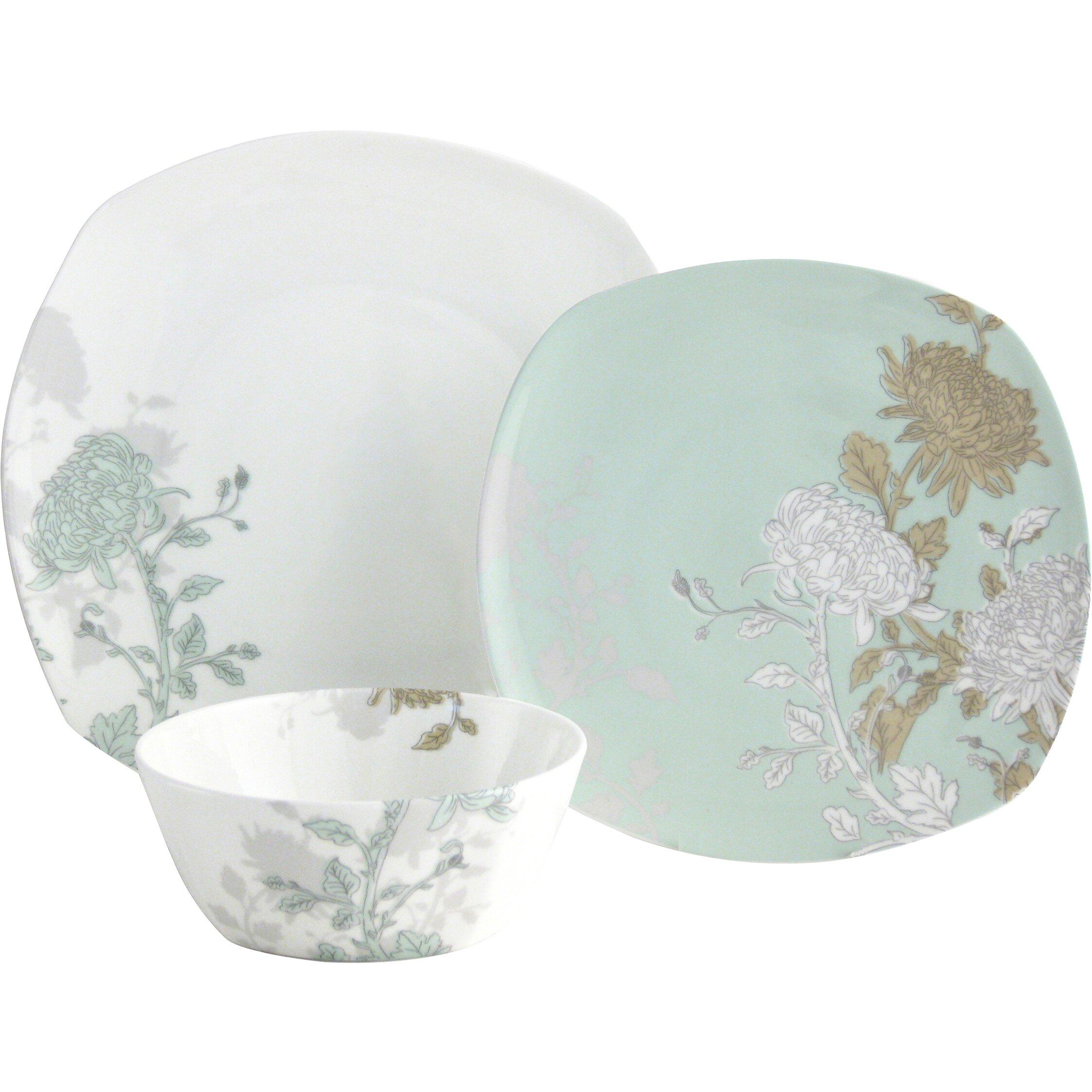 Dining Room 7 Piece Sets Aynsley China Cambridge 12 Piece Porcelain Dinnerware Set