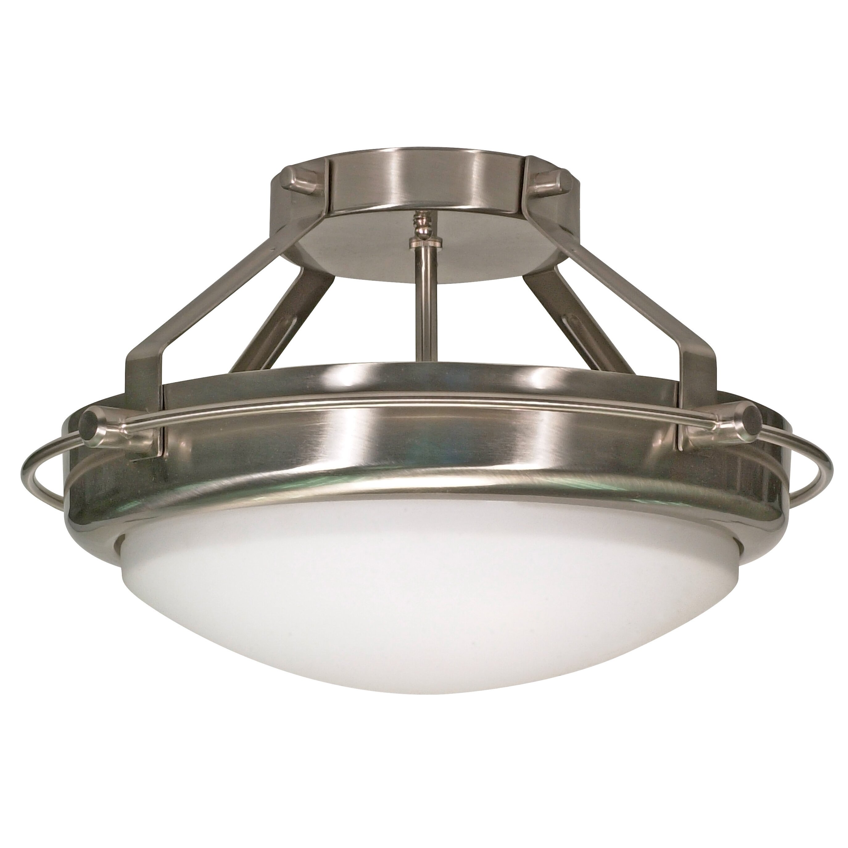 nuvo lighting polaris semi flush mount reviews wayfair