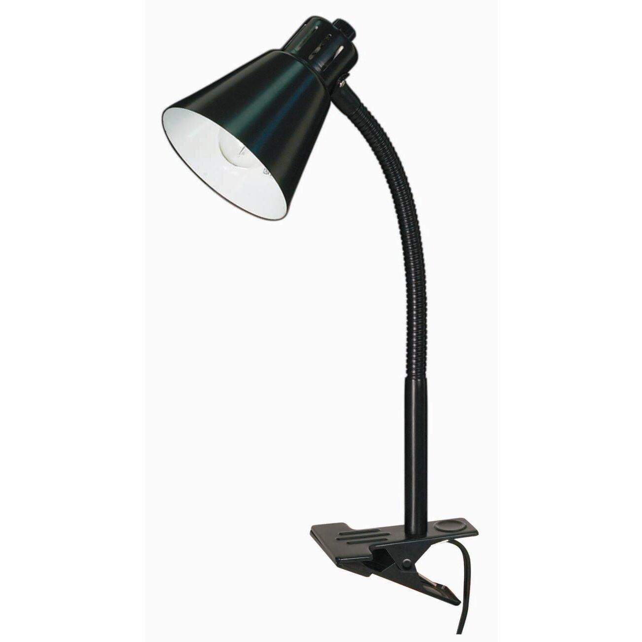 nuvo lighting basic 1 light goose neck clip on 13 table lamp reviews wayfair. Black Bedroom Furniture Sets. Home Design Ideas