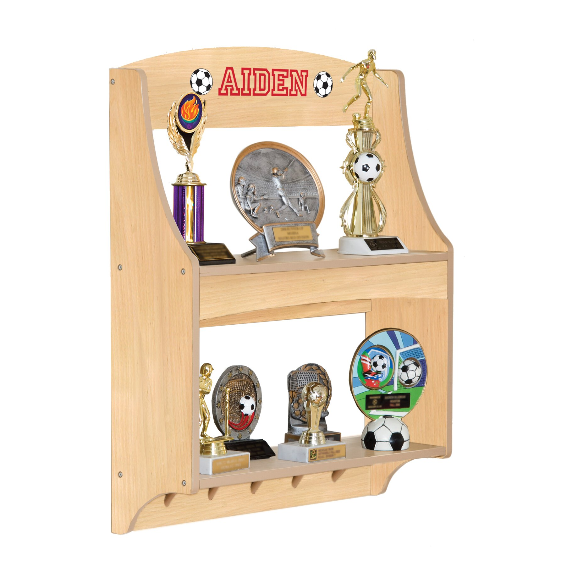 Guidecraft Personalized Furniture Expressions Trophy Rack