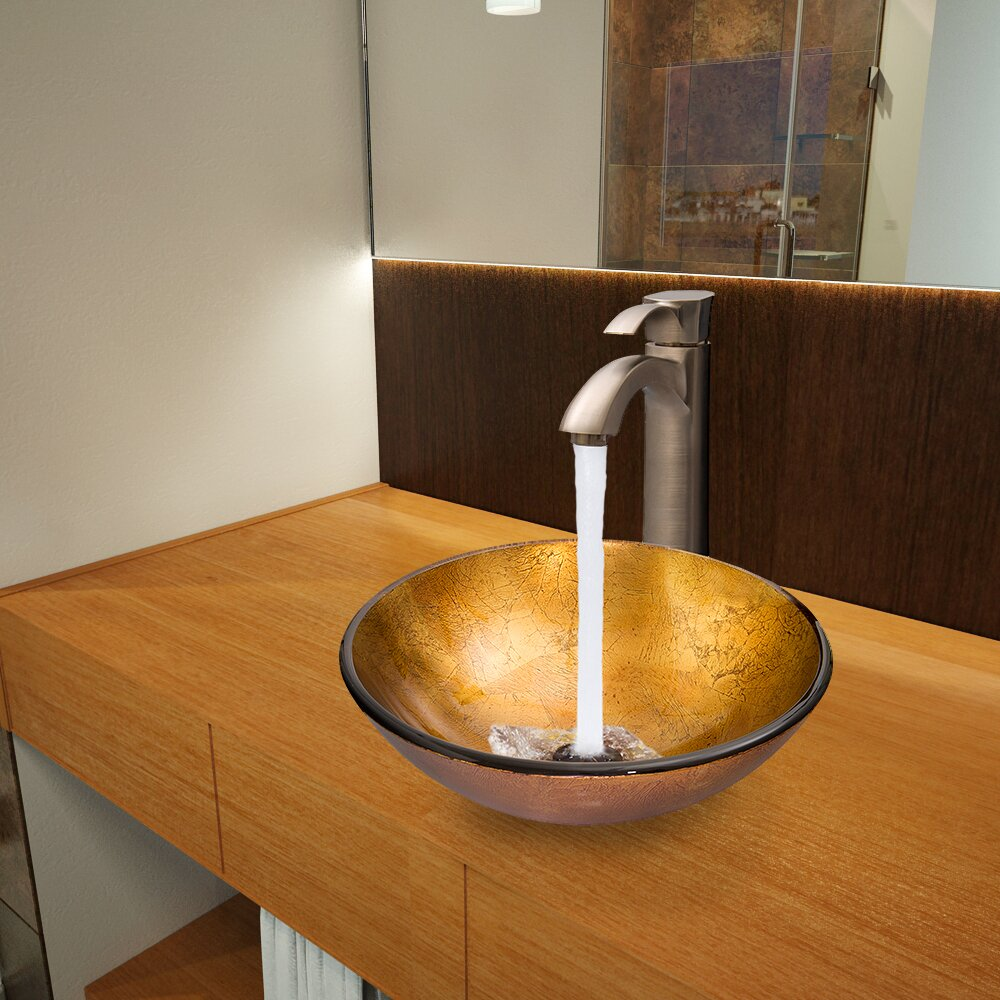 gold bathroom sink shop kohler rhythm mirror gold stainless