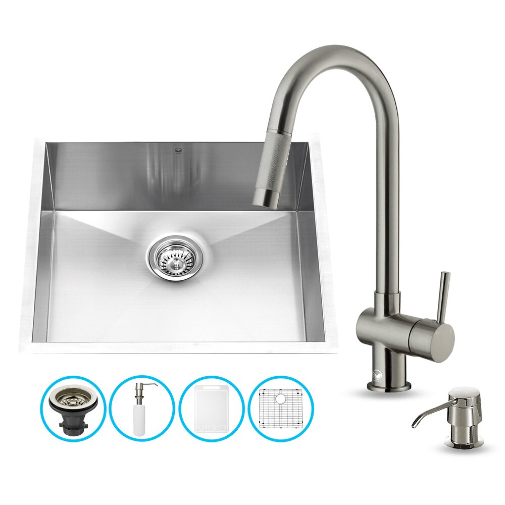 16 Gauge Stainless Steel Kitchen Sink with Gramercy Stainless Steel ...