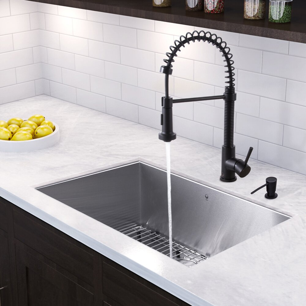 undermount sink kitchen vigo 30 inch undermount single bowl 16 stainless 3030