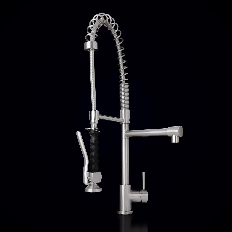 Vigo Zurich Single Handle Pull-Down Spray Kitchen Faucet ...