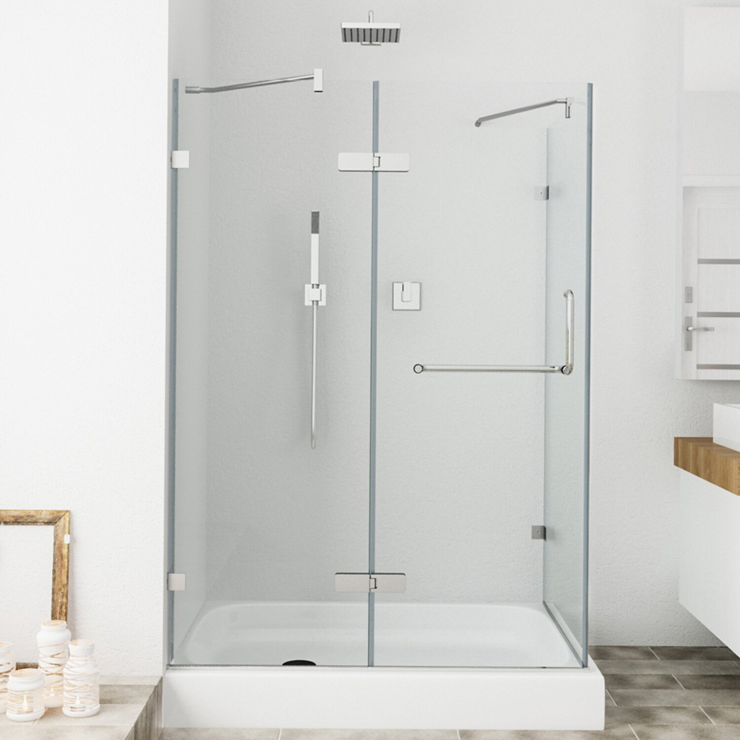 Vigo Monteray 36 X 48-in. Frameless Shower Enclosure With