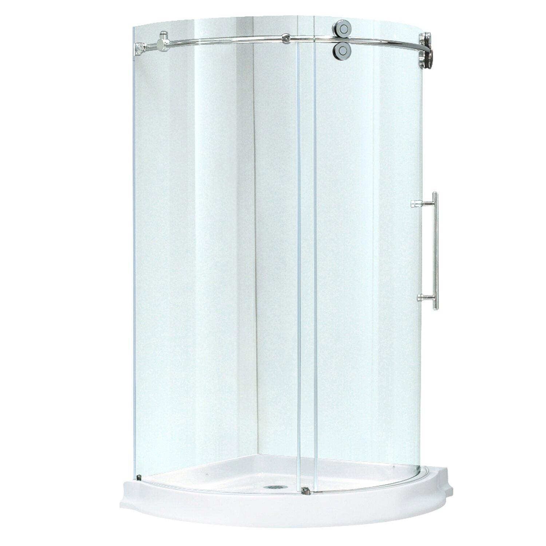Vigo Sanibel 36 X 36 In Frameless Round Sliding Shower Enclosure With