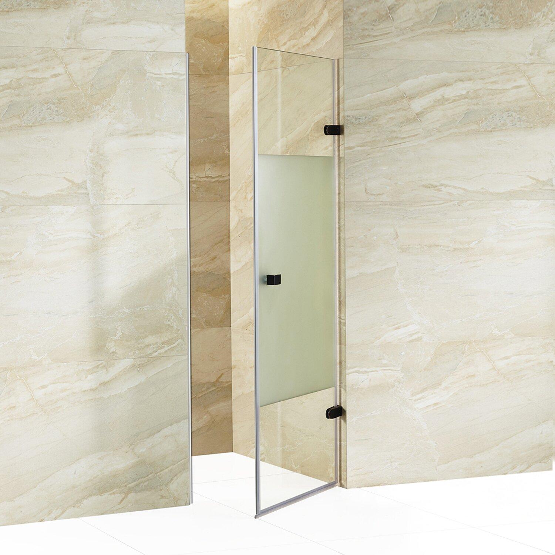 vigo tempo 70 625 u0026quot  hinged adjustable frameless shower door