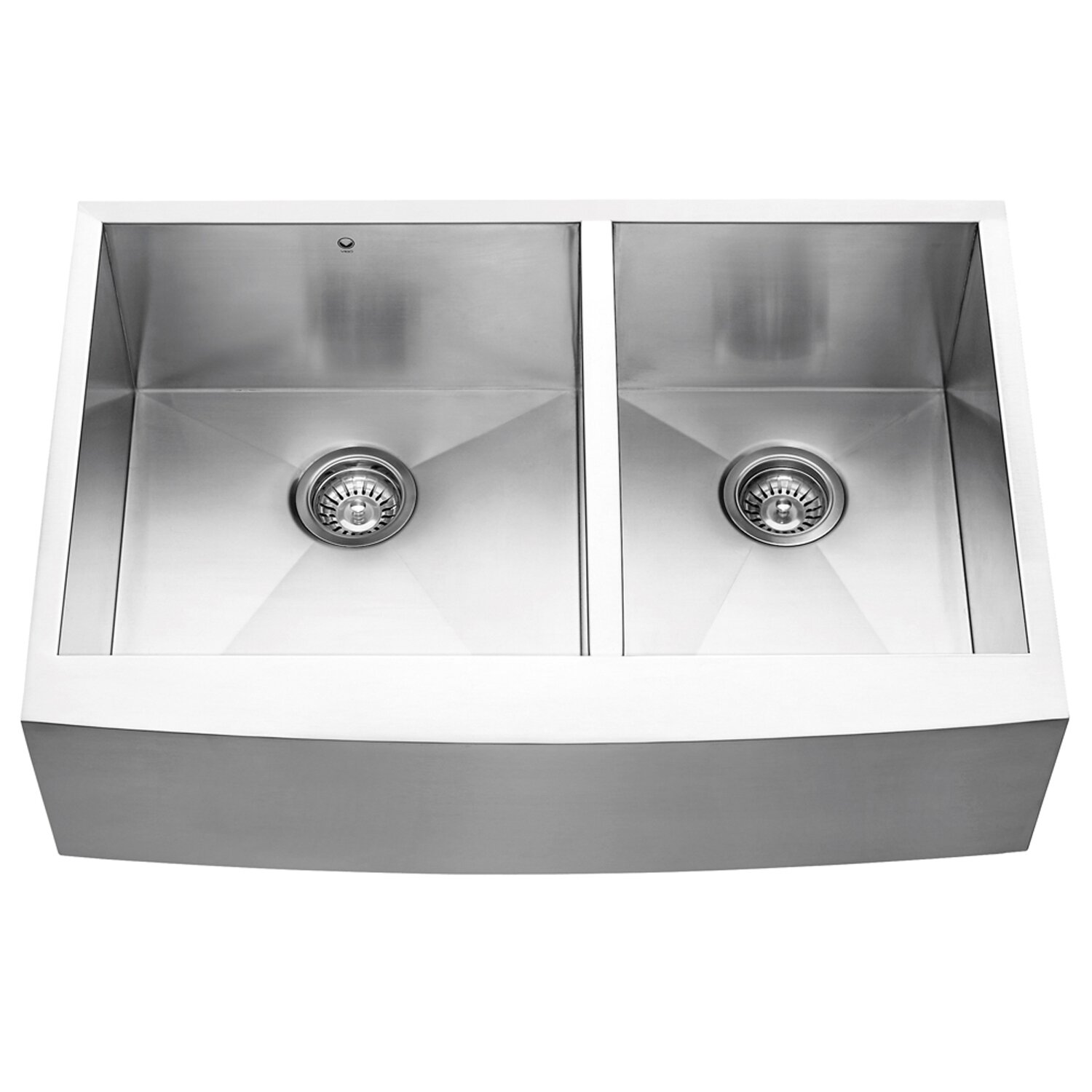 ... Double Bowl 16 Gauge Stainless Steel Kitchen Sink & Reviews Wayfair
