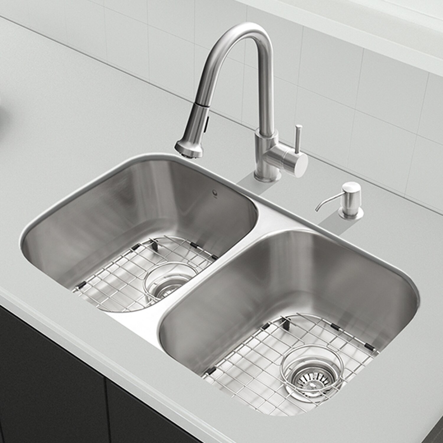 undermount sink kitchen vigo 32 inch undermount 50 50 bowl 18 3030