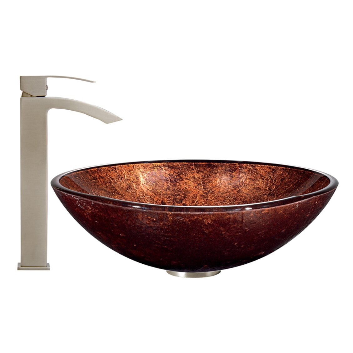 vigo bathroom sinks vigo vessel bathroom sink and duris faucet wayfair 14952