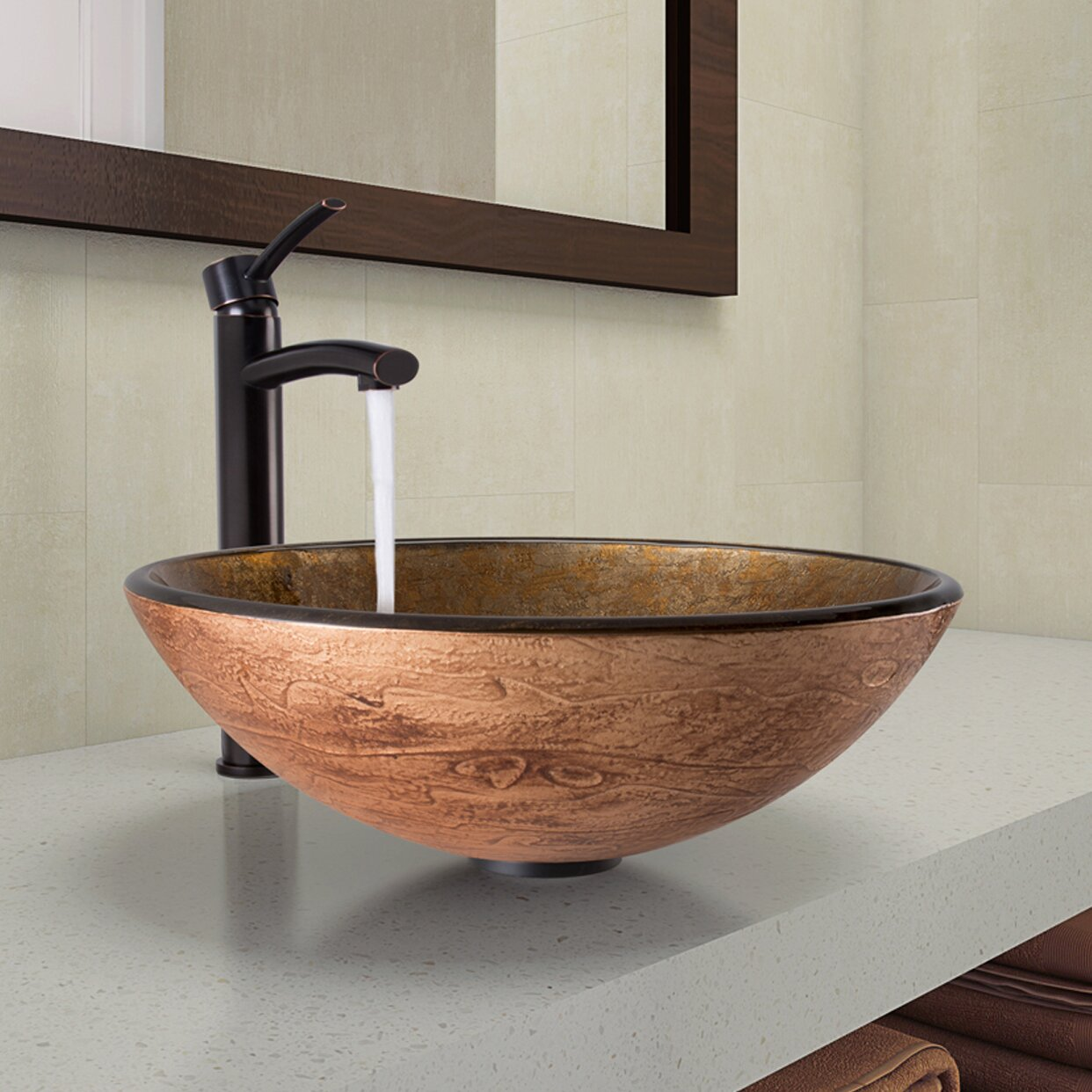 vigo bathroom sinks vigo vessel bathroom sink and milo faucet wayfair 14952