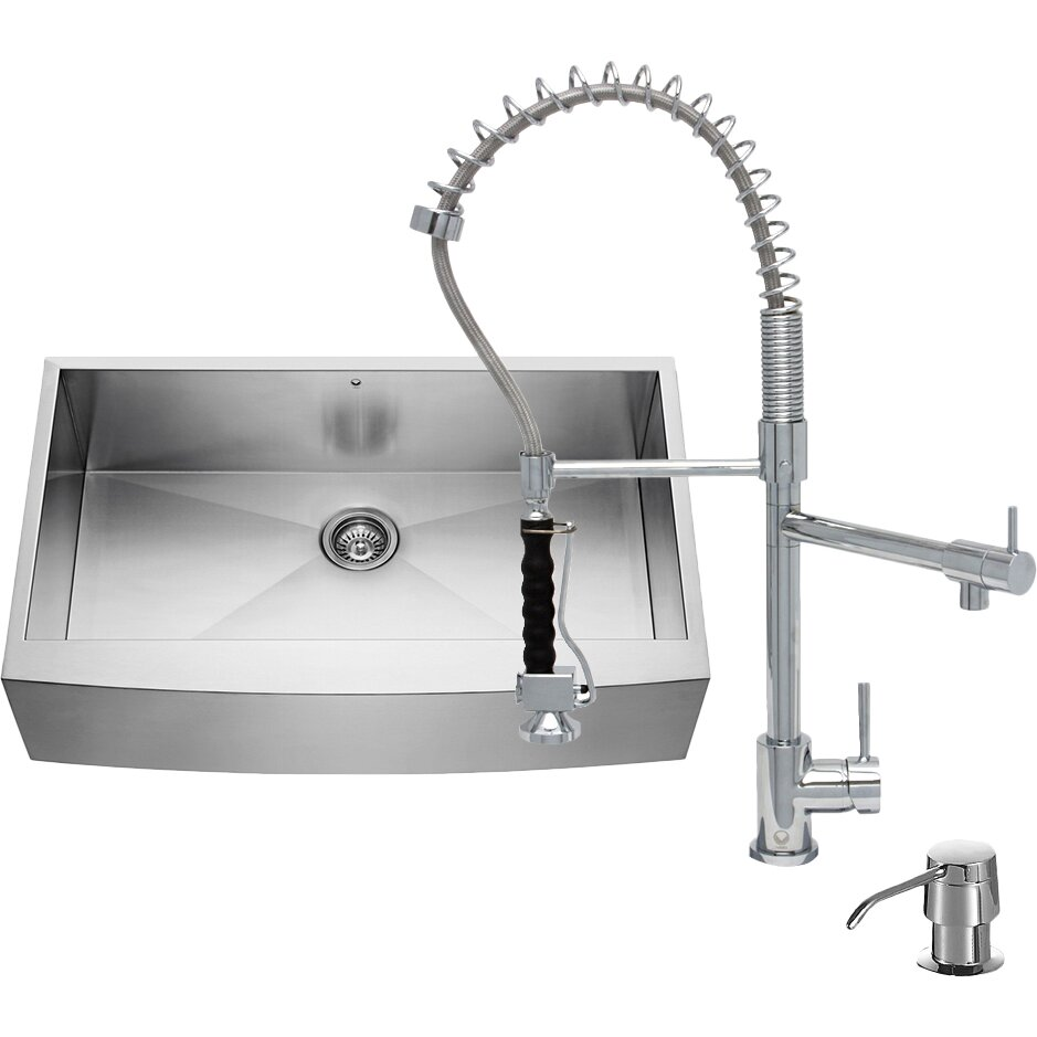 Stainless Steel Farmhouse Sink 36 Inch : 36 inch Farmhouse Apron Single Bowl 16 Gauge Stainless Steel Kitchen ...