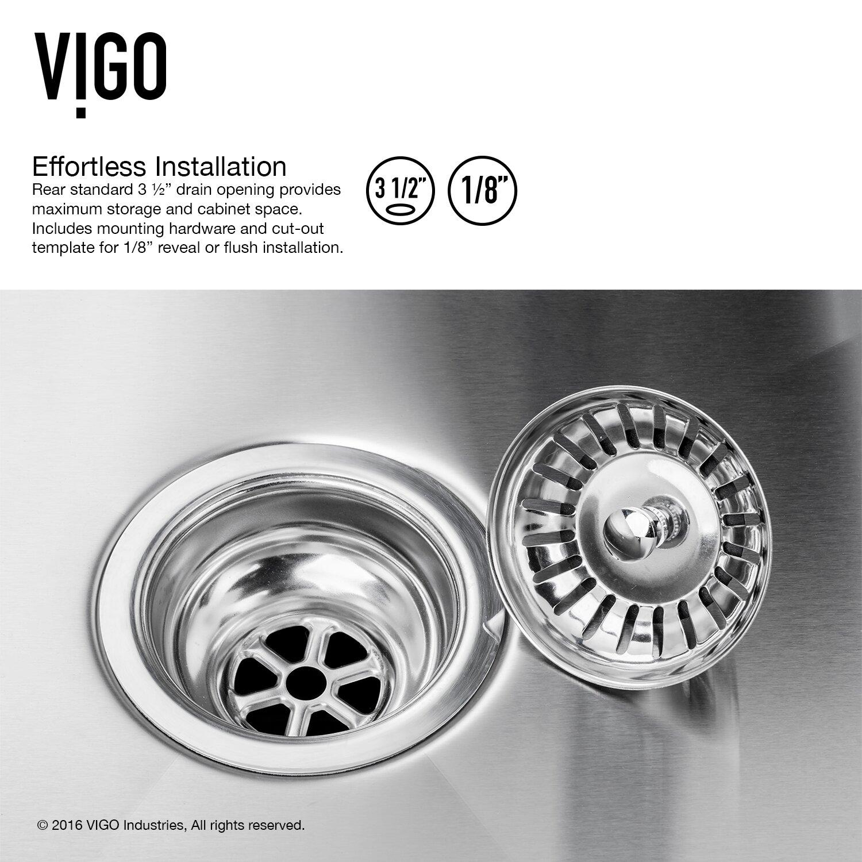 ... 30 inch Undermount Single Bowl 16 Gauge Stainless Steel Kitchen Sink