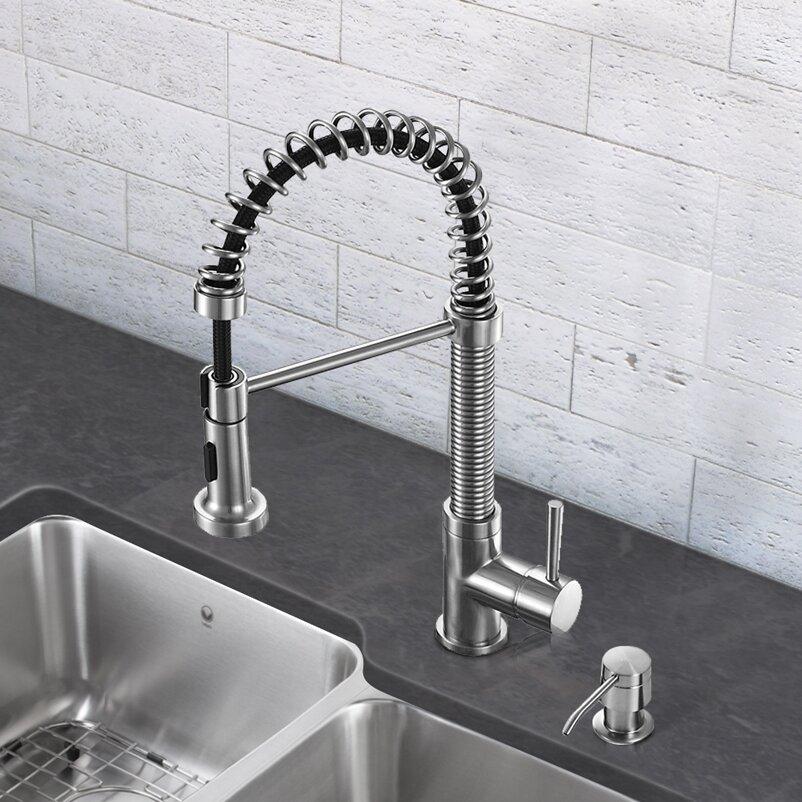 Vigo Edison Single Handle Pull Down Spray Kitchen Faucet