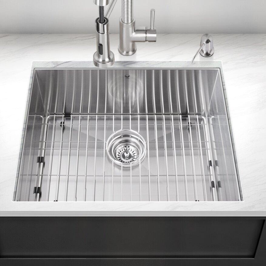 Stainless Kitchen: Vigo 23 Inch Undermount Single Bowl 16 Gauge Stainless