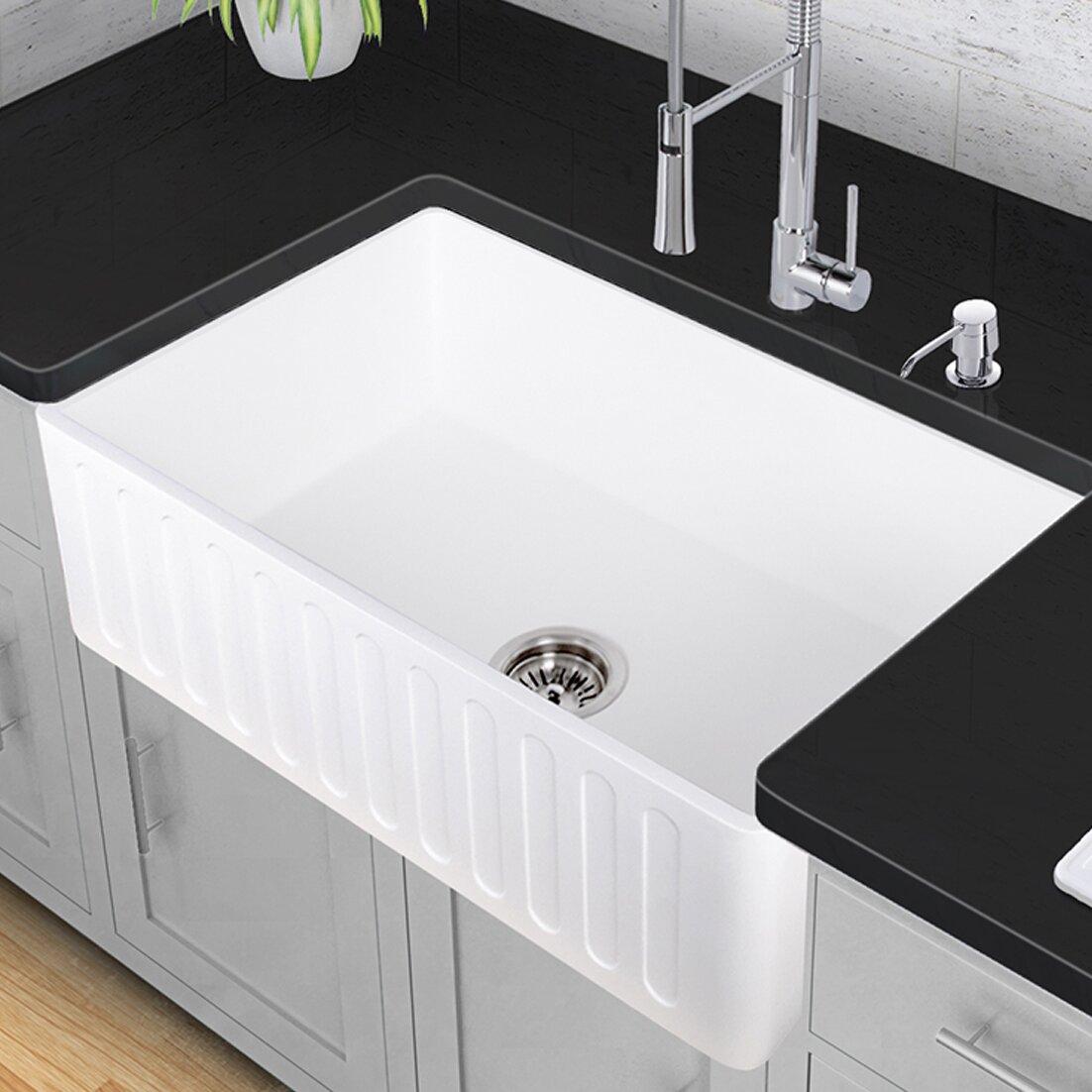 Vigo 33 X 18 Farmhouse Kitchen Sink Reviews Wayfair