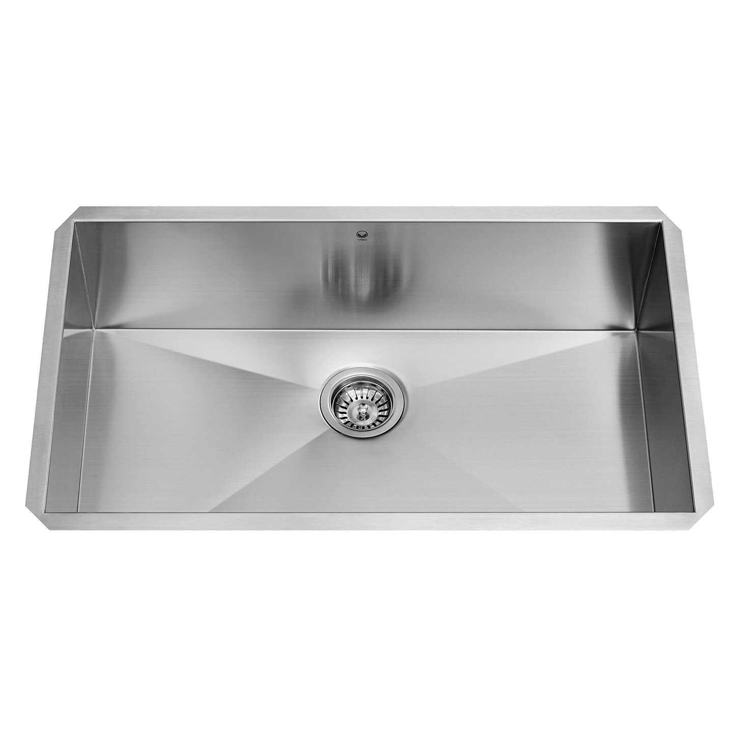 16 Gauge Stainless Steel Sink : ... Single Bowl 16 Gauge Stainless Steel Kitchen Sink & Reviews Wayfair