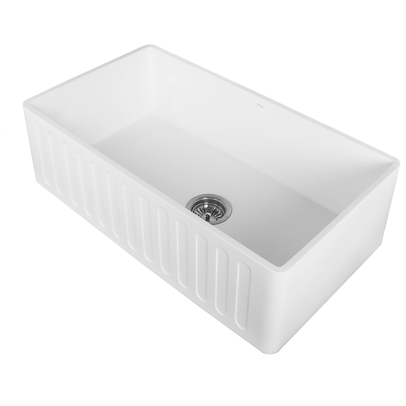 vigo 33 quot x 18 quot farmhouse kitchen sink reviews wayfair