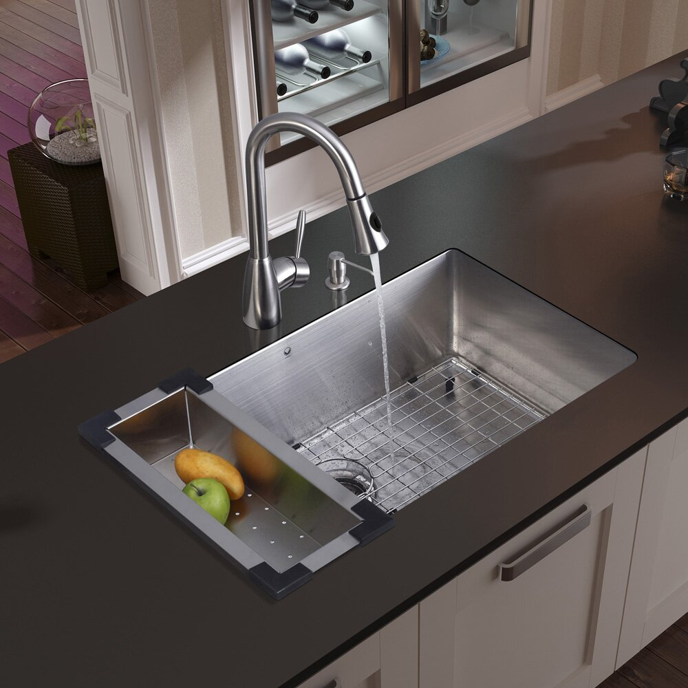 Undermount     Gauge Stainless Steel Kitchen Sink