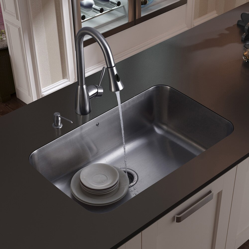 18 Gauge Stainless Steel Kitchen Sink with Aylesbury Stainless Steel ...