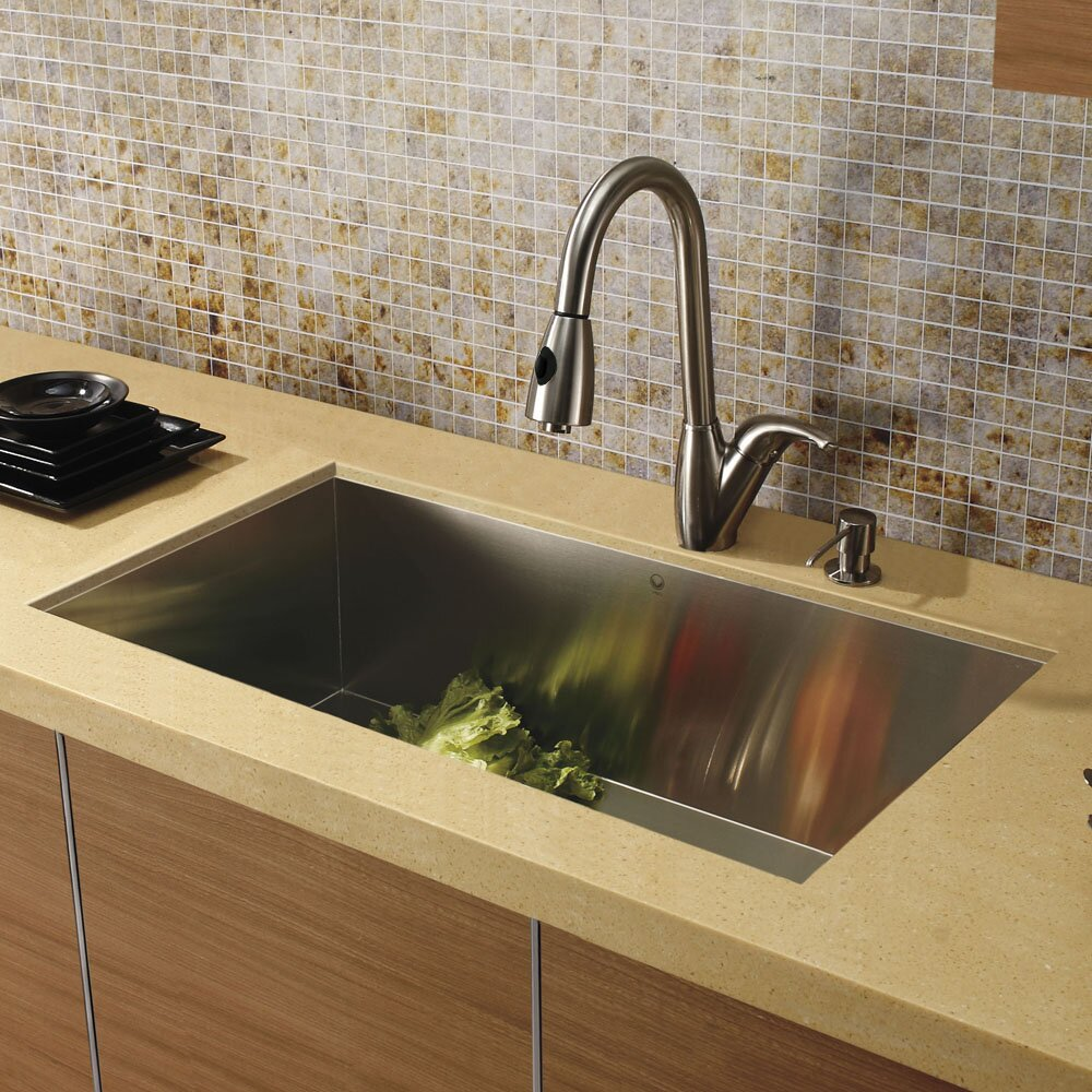 32 inch Undermount Single Bowl 16 Gauge Stainless Steel Kitchen Sink ...