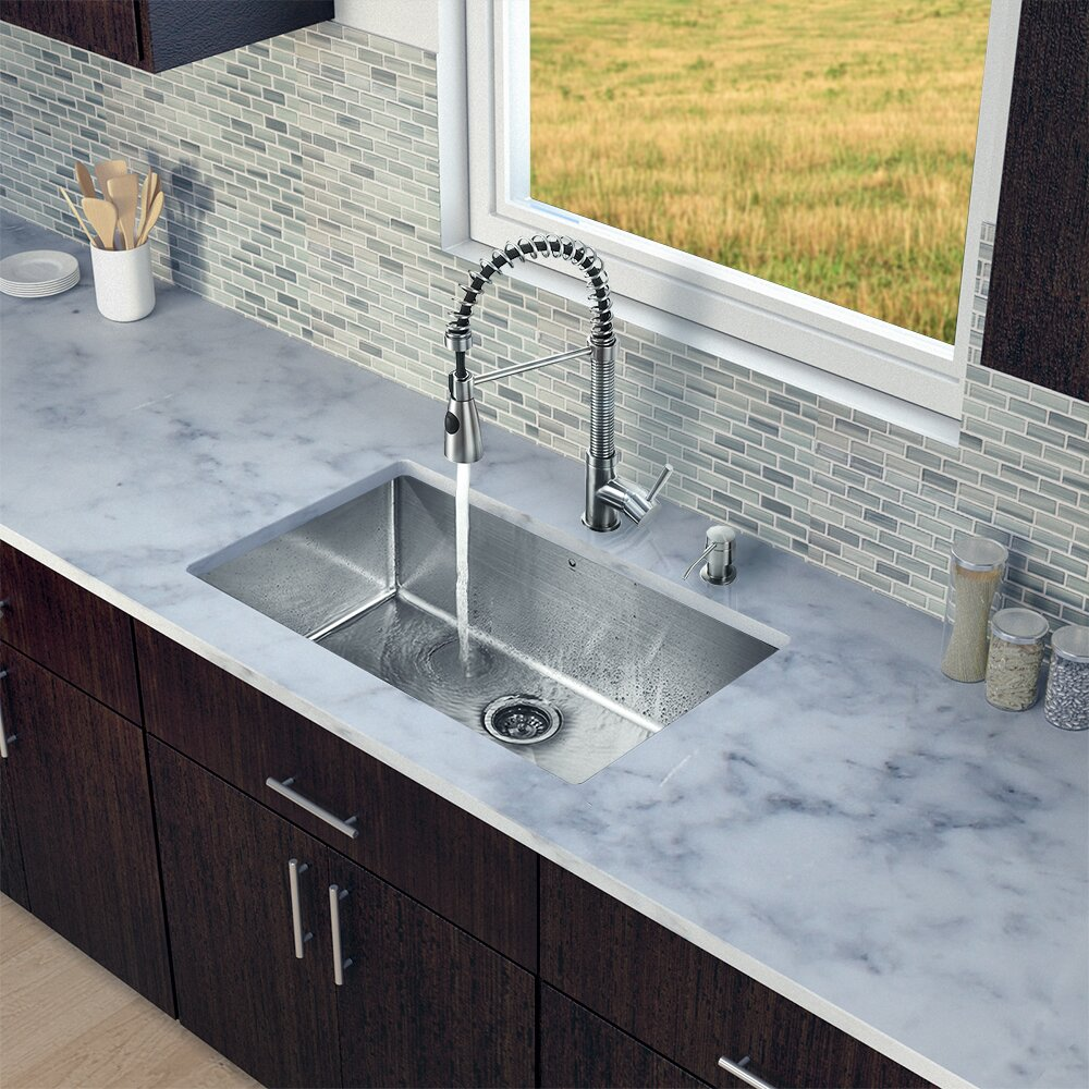 Bowl 16 Gauge Stainless Steel Kitchen Sink with Brant Stainless Steel ...