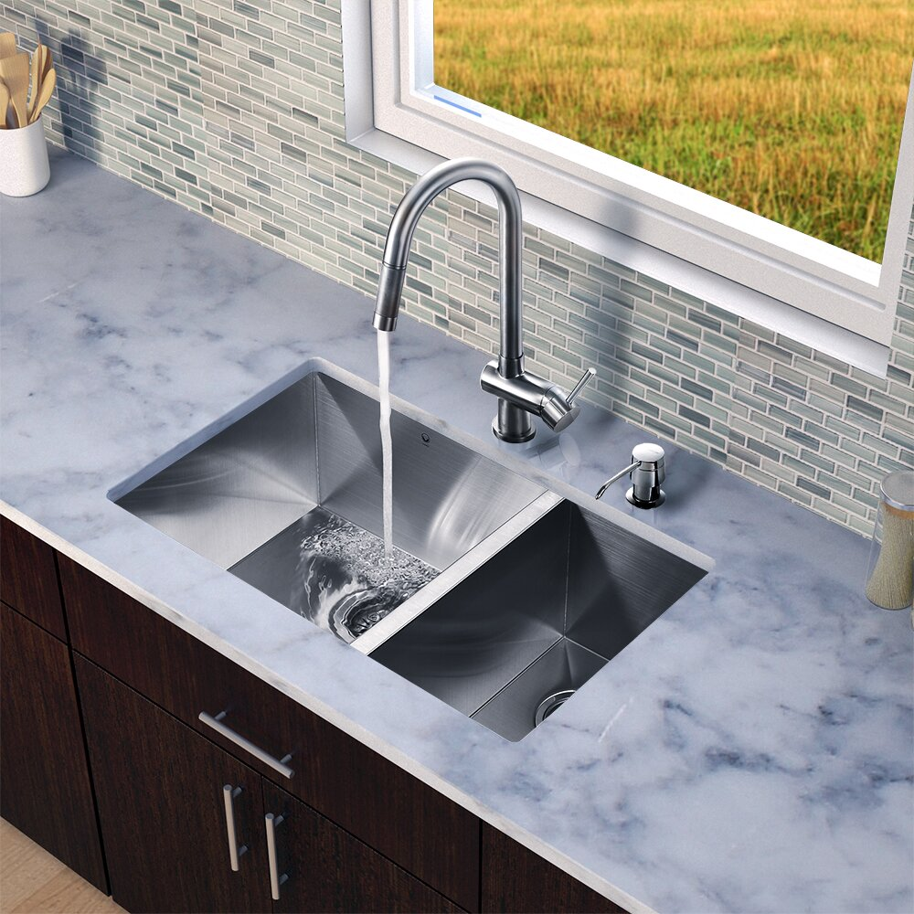 Stainless Steel Sink 16 Gauge : 16 Gauge Stainless Steel Kitchen Sink with Gramercy Stainless Steel ...