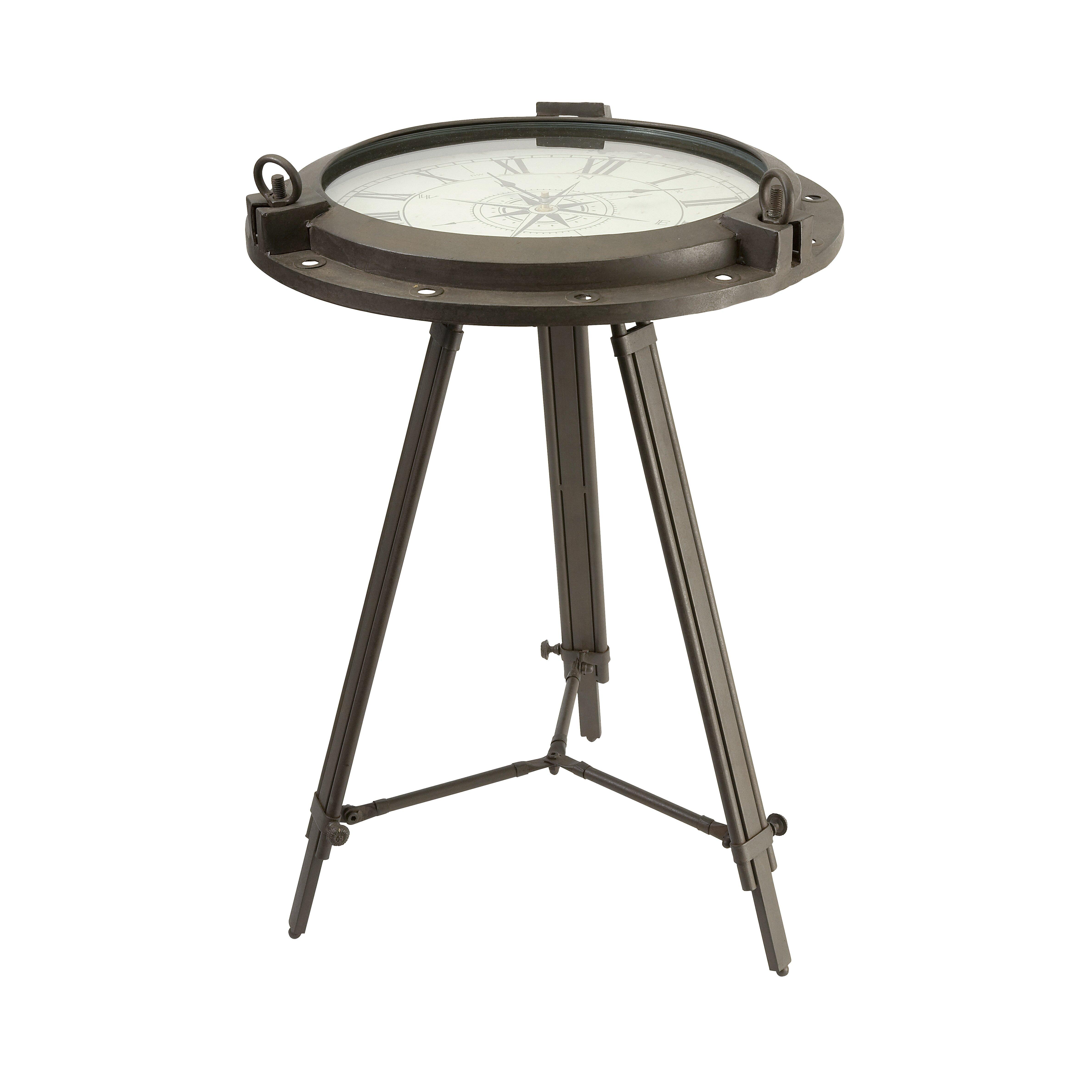 Imax Tripod Clock End Table Reviews Wayfair