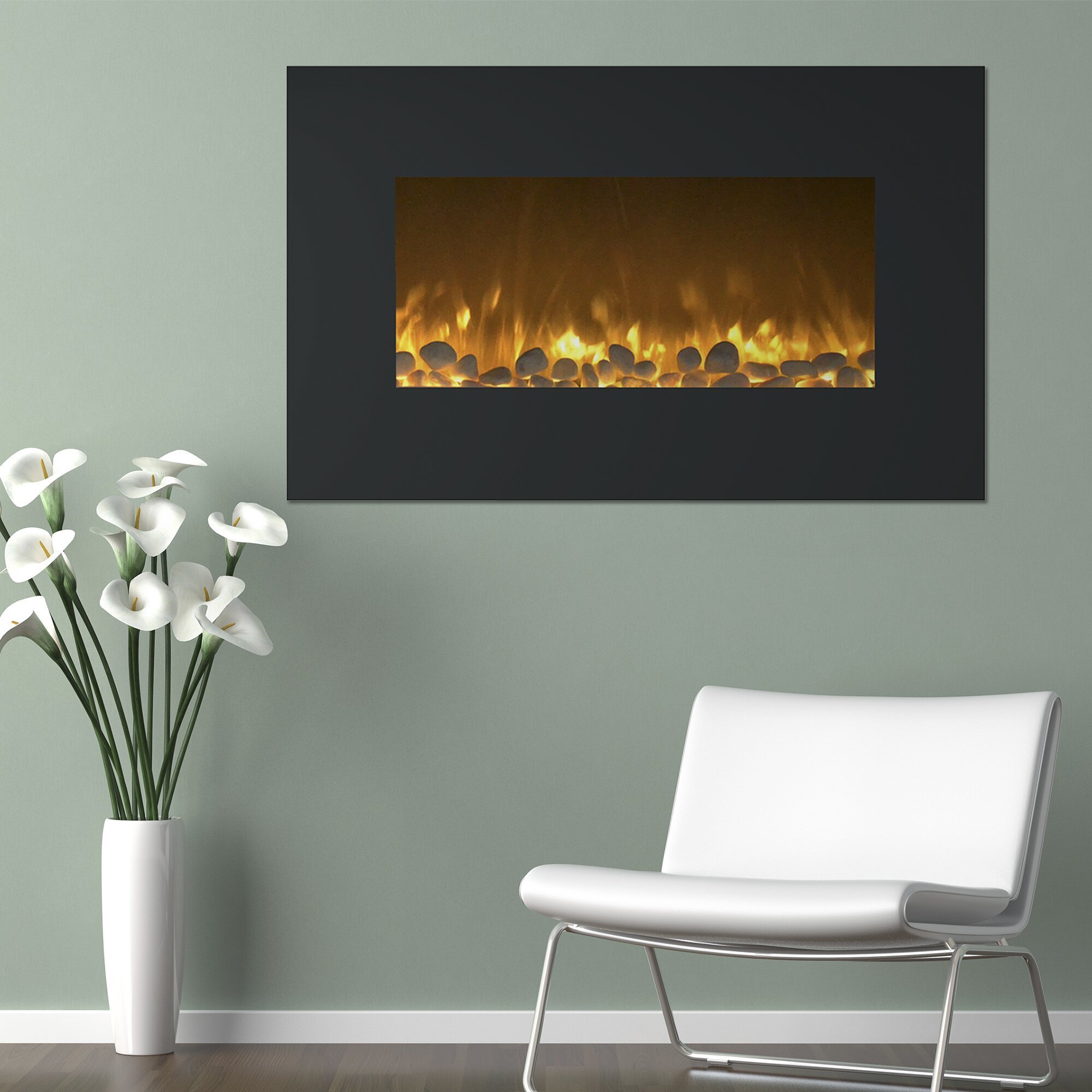 northwest flat wall mount electric fireplace reviews