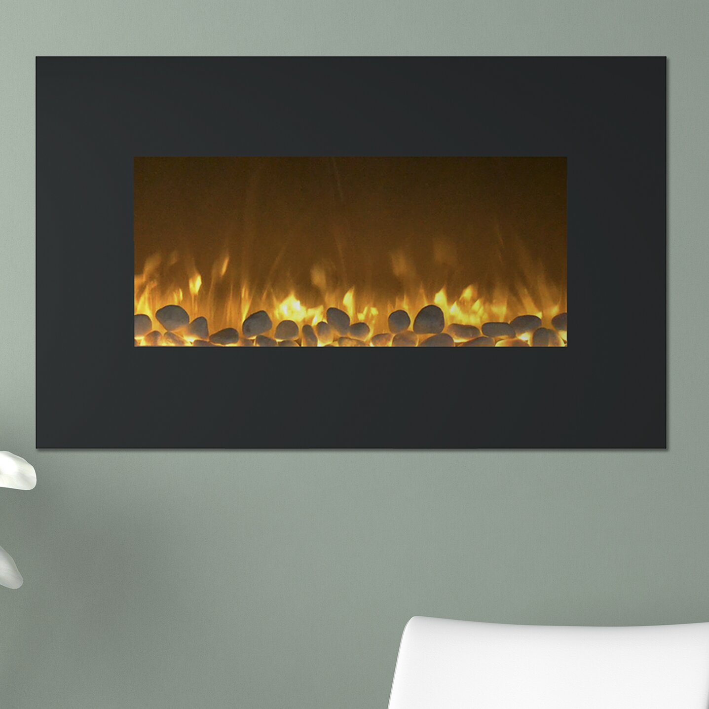 Northwest Flat Wall Mount Electric Fireplace Reviews Wayfair