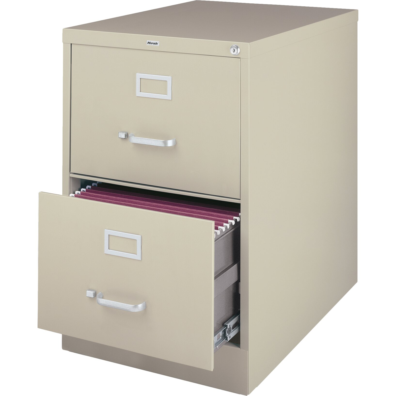 Perfect  Deep Vertical File Cabinet Legal Size  Desert Putty  2 Drawers