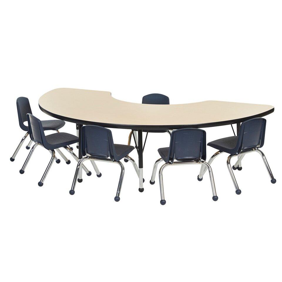 ECR4Kids 7 Piece Kidney Activity Table amp 10quot Chair Set  : ECR4kids 7 Piece Kidney Activity Table and 10 Chair Set from www.wayfair.com size 960 x 960 jpeg 52kB