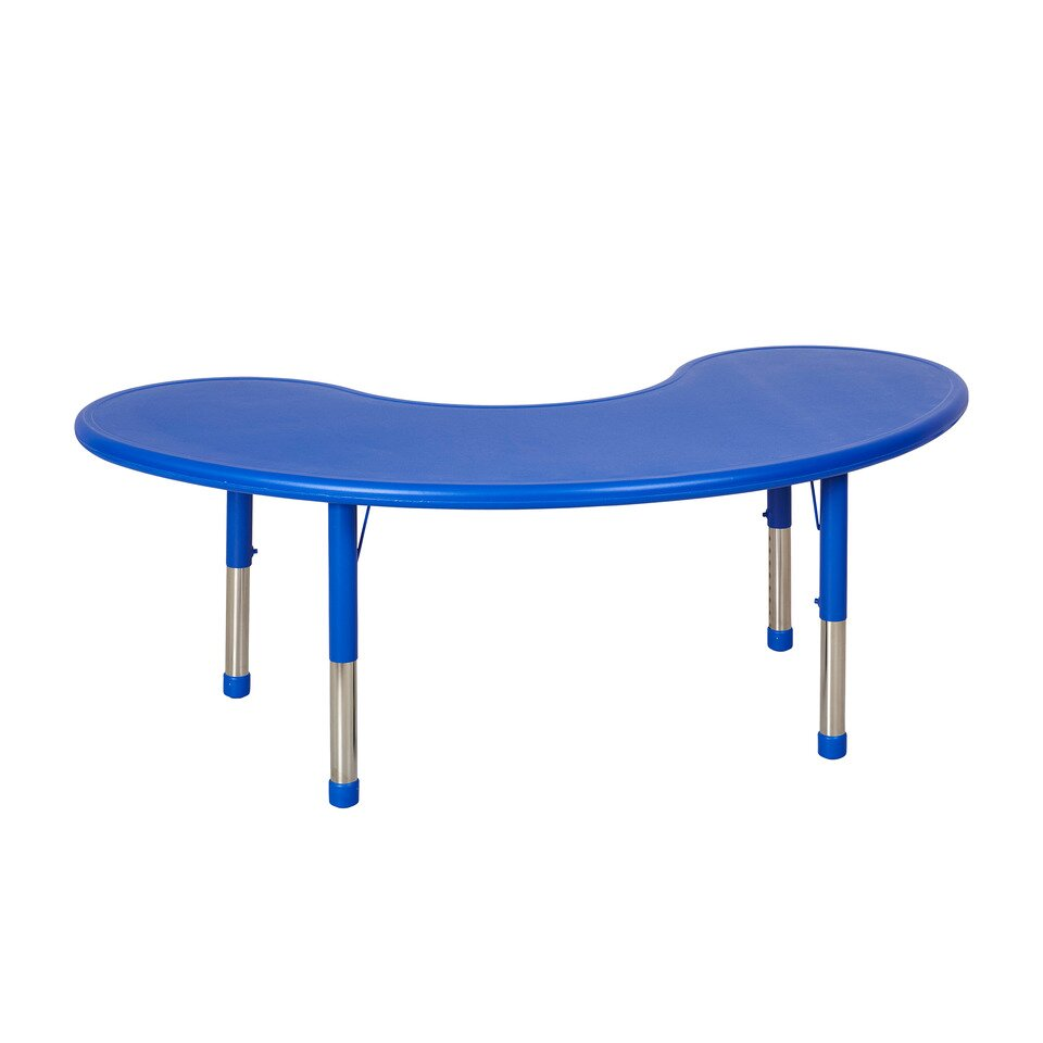 Ecr4kids 65 x 35 kidney activity table reviews wayfair for Table x reviews