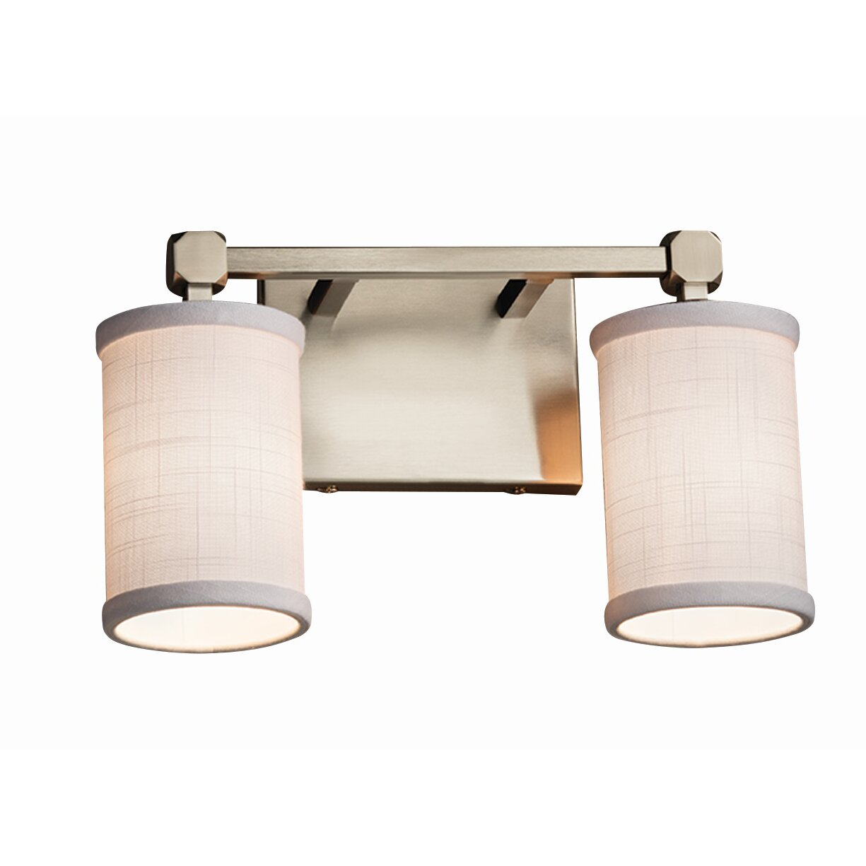 Justice Vanity Lights : Justice Design Group Textile Tetra 2 Light Vanity Light Wayfair