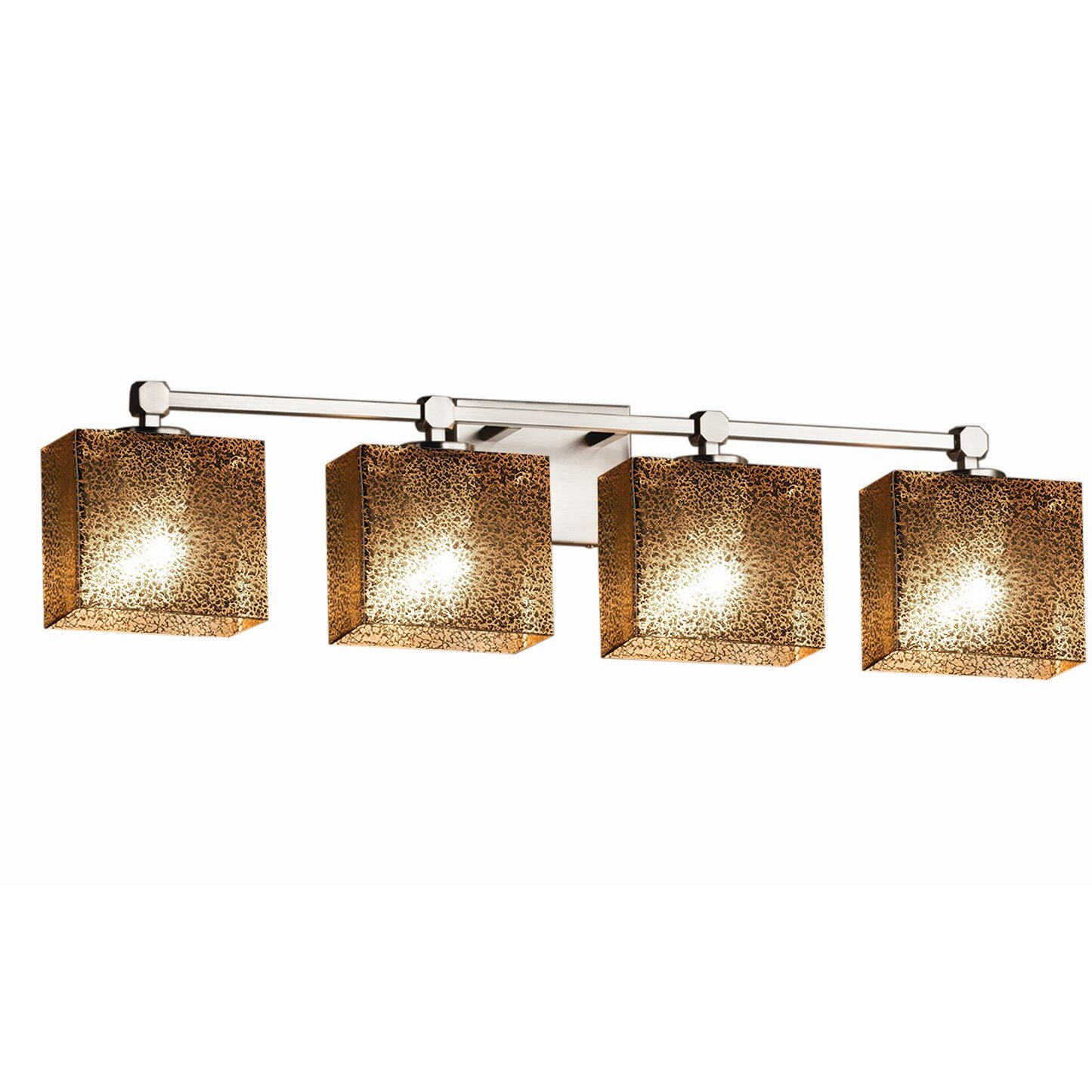 Justice Vanity Lights : Justice Design Group Fusion Tetra 4 Light Vanity Light Wayfair