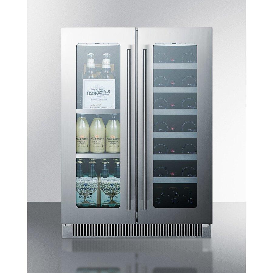 Summit Appliance 21 Bottle Dual Zone Built In Wine