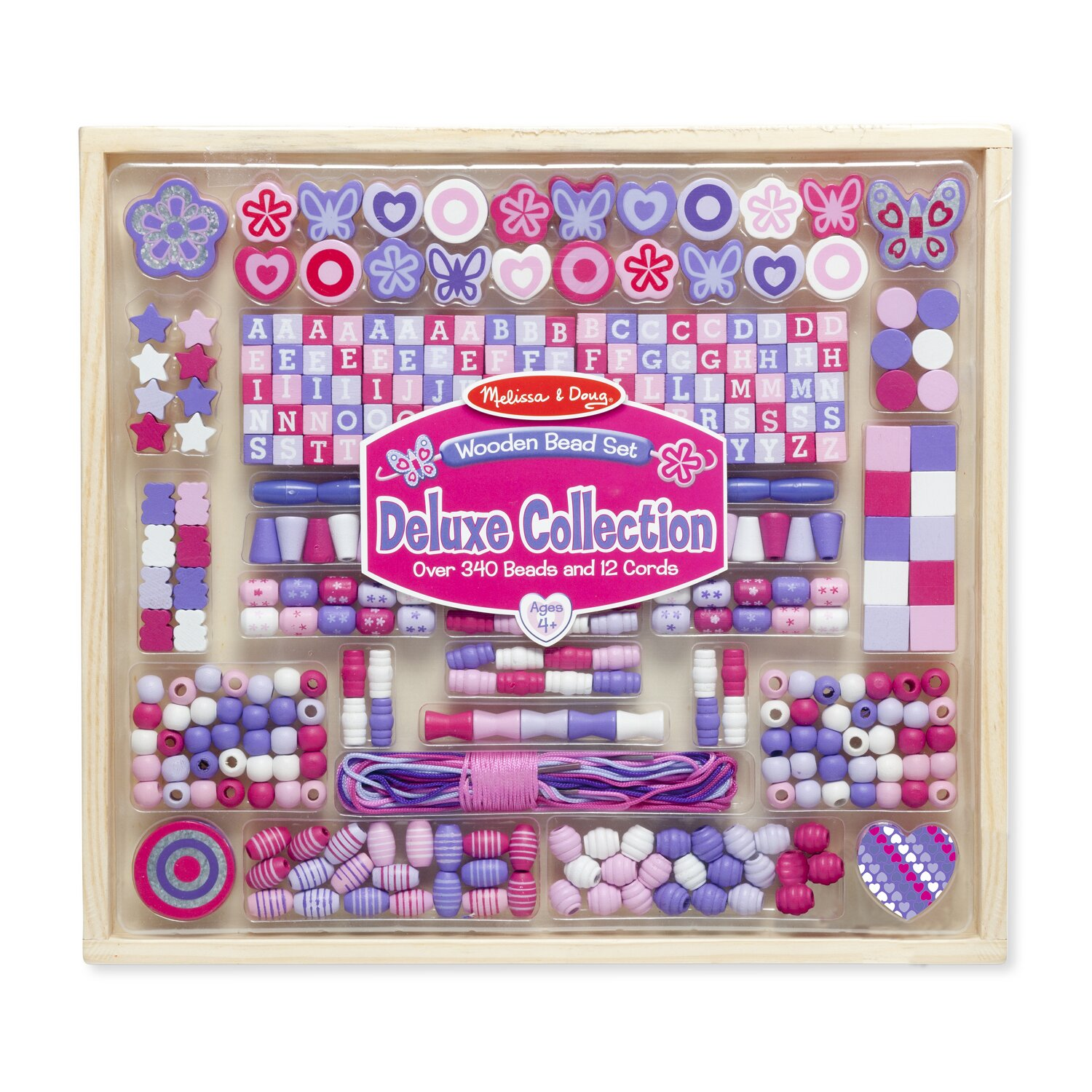 Melissa Doug Deluxe Wooden Bead Set Reviews Wayfair