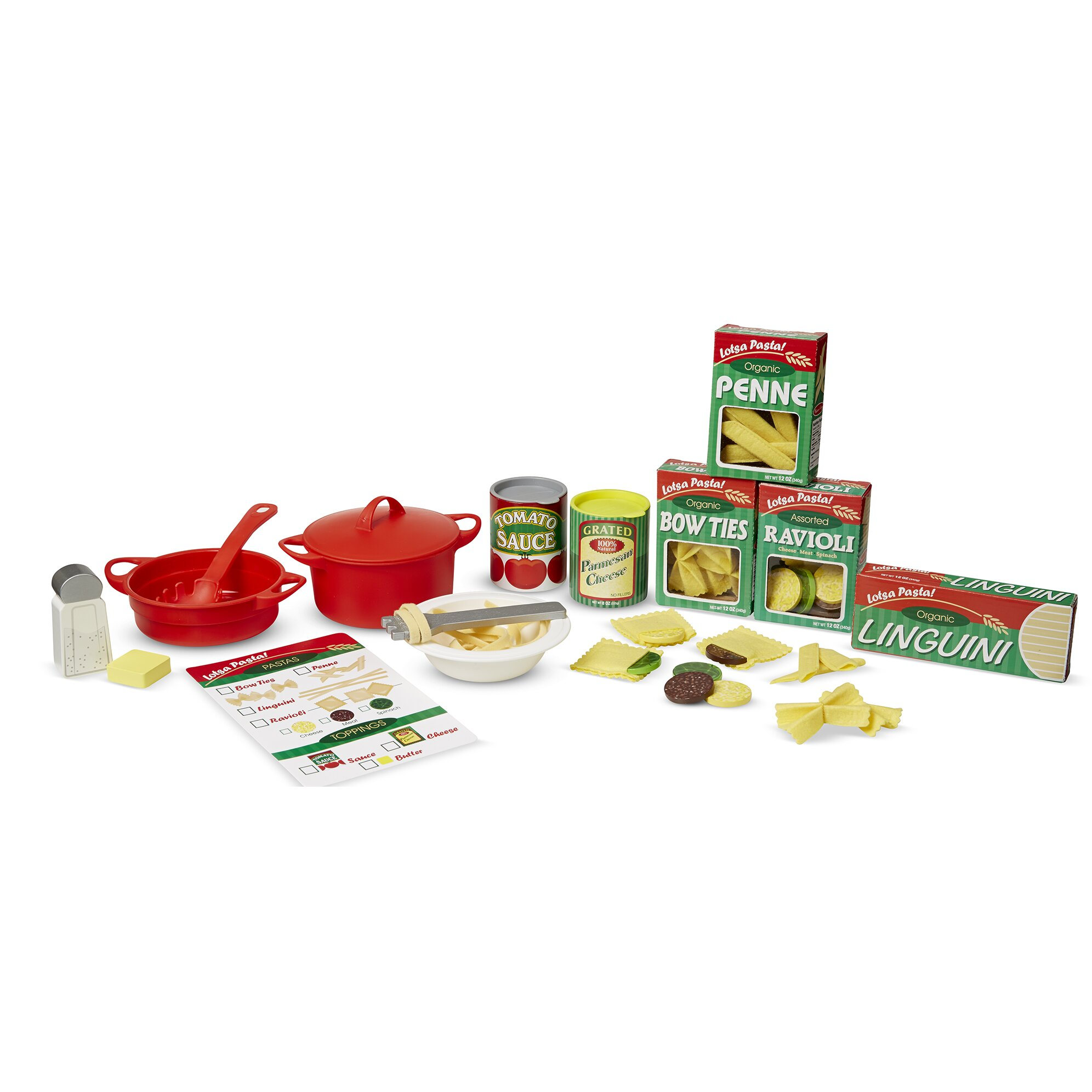 Melissa Doug 58 Piece Perfect Pasta Play Set Reviews Wayfair